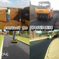 tarriing driveways and tennis courts