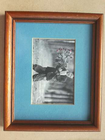 Frame With Glass & Classic Boy And Girl Pictures With Blue Background Kempton Park - image 3