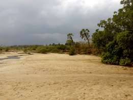 Sea channel beach plot, 2.2acres, Majoreni, South Coast