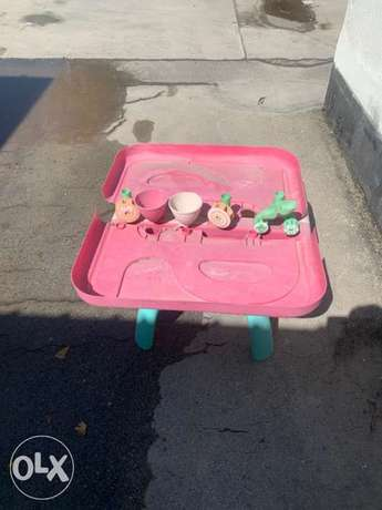 sand and water baby table
