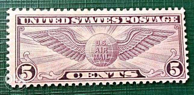 1930 US 5c winged violet stamp MNH #C12