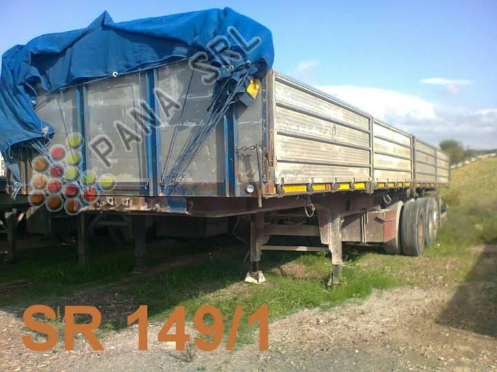 b  36a3 dds/12,5 b flatbed semi-trailer - 1984
