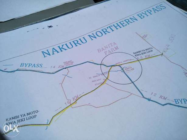 For quick sale plots in kahawa Upendo area 5kms interior from Bahati Nakuru East - image 1