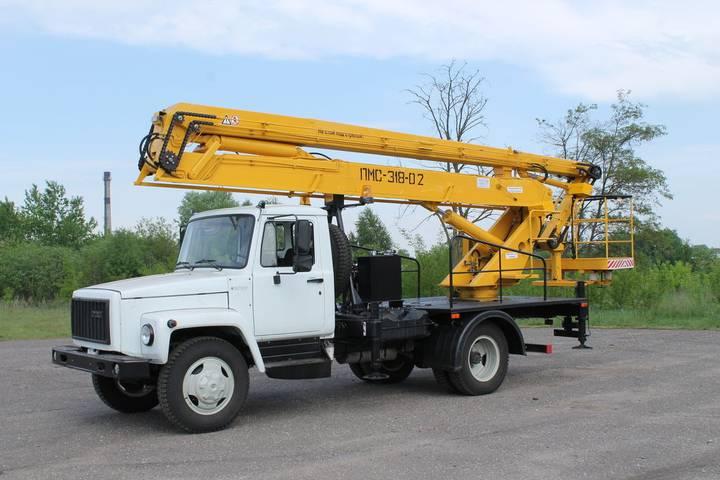 ГАЗ new pms 318 02 na shassi  33098 bucket truck - 2019