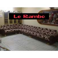 Floral 8 Seater L Sofa Sets 1,200,000/- Or $345