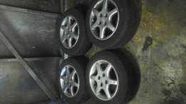 "vw mags and tyres 14"" with tyres"