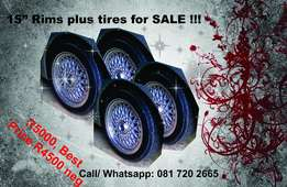 "Lenso 15"" Rims with tires for sale"