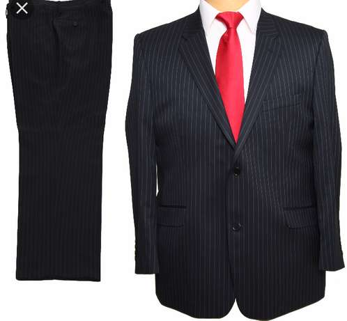 Stripped suits, black and navy blue, all sizes. FREE DELIVERY. Nairobi CBD - image 1
