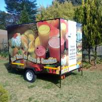 Food and smoothie trailer