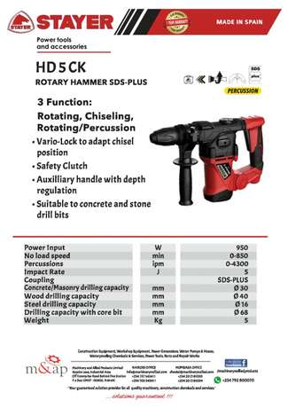 Rotary Hammer drill Industrial Area - image 1