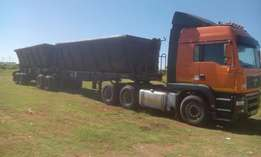 MAN TGA 26-480 truck tractor and trailer for sale