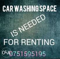 Car Washing Space is Needed for Renting.