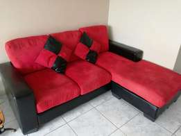 L-Shape Couch with Cushions