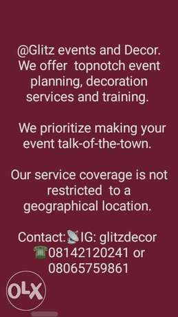 Glitz events planning and decoration services Lagos - image 1