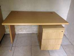 Wooden Desk and drawers for sale