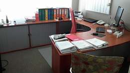 Office furniture in very good condition for sale.