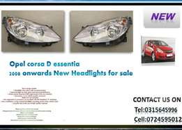 Opel corsa D Essential 2008 onwards New Headlights Chrome Type R1395