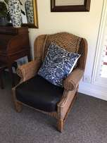 2x cane chairs