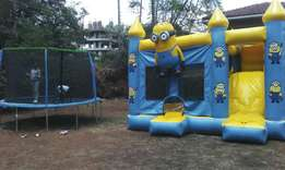 Bouncing castles trampolines water slides puppet shows face painting