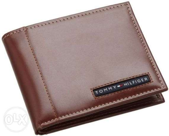 tommy hilfiger wallet tan original 100%