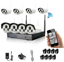 HD 8 Channel 720P Wireless IP Camera CCTV Security System NVR KIT