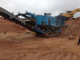 Used 2008 Pegson XA400 Mobile Jaw Crusher 1100 X 650
