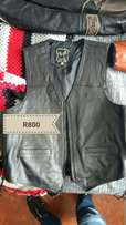 Two Leather vests for sale