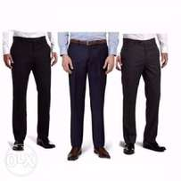 3n1 men executive suit trousers- black, navy blue, chocolate brown