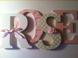 Name / Words Monograms - Customised In Your Colours/Theme