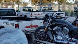 We transport only motorcycles, quads, tuc tucs, trikes and golf carts.