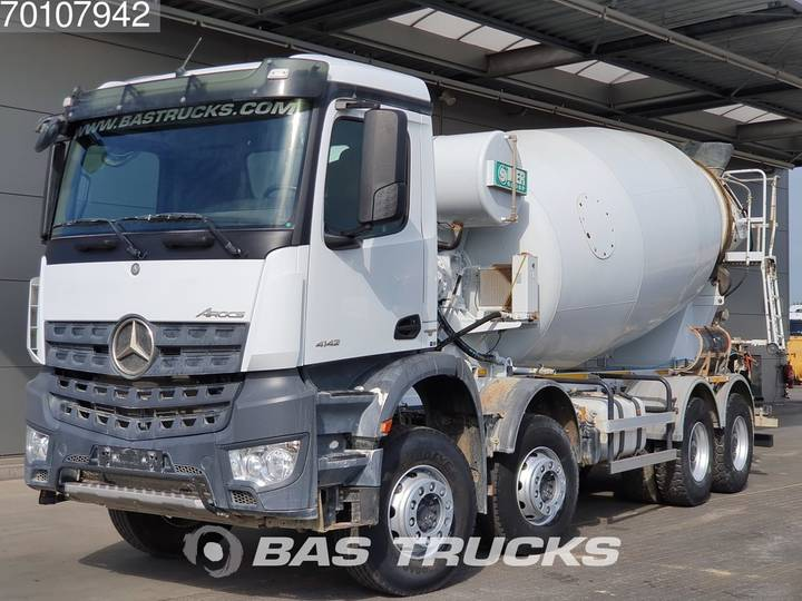 Mercedes-Benz Arocs 4142 B 8X4 Big-Axle SteelSuspension 12m3 Euro 6 - 2018