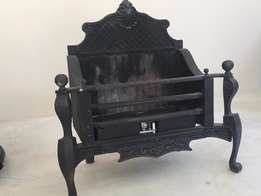 Antique gas Victorian cast iron fireplace