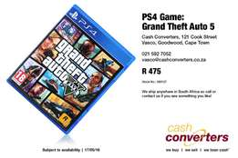 PS4 Game: Grand Theft Auto 5