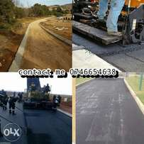 Tar surface driveways and parking areas