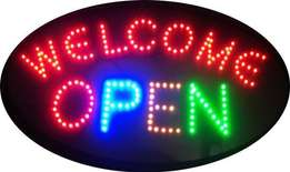 Neon LED Welcome - OPEN SIGN
