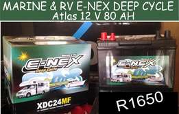 Atlas 12 V / 80 AH E-Nex Deep Cycle Battery for Sale