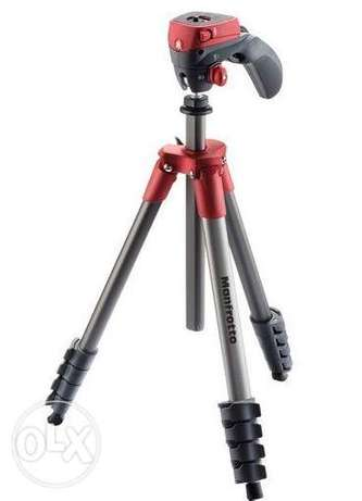 Manfrotto Compact Action Aluminum Tripod (Red)