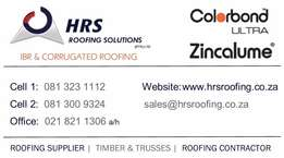 IBR AND CORRUGATED Roof Sheeting Sale / Roofing Contractor / Carports