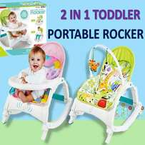 2in1 baby rocker and feeding chair