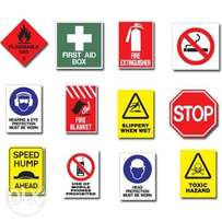 General Safety & Fire Safety Signage Different Quality Material