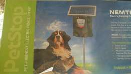Solar system electric pet fence.