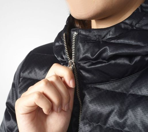 Zimowa kurtka Adidas SLIM COAT ORIGINALS czarna płaszcz M 40