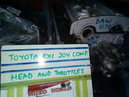 Toyota RXI 20V Complete Head And Throttles For Sale