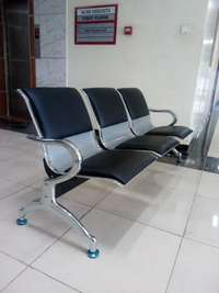 leather padded linked reception area chairs olx