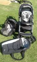 Graco Delux pram, car seat and carrier