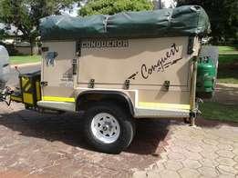 Hire a fully equipped Conqueror Conquest off road camp trailer