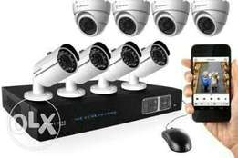 Cctv cameras 8channels complete(500gigg hard drive included)