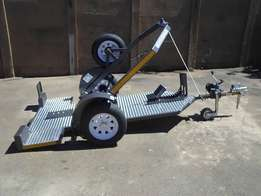 Easy Loading Motorbike Trailer for sale.