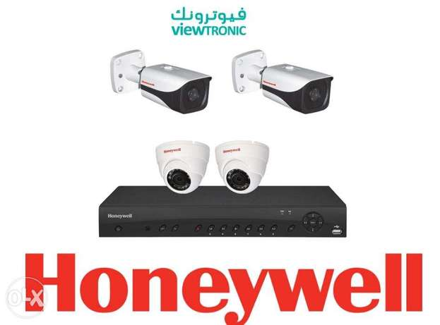 Honeywell Kit /1 DVR 4Channle + 2 Dome + 2 Bullet