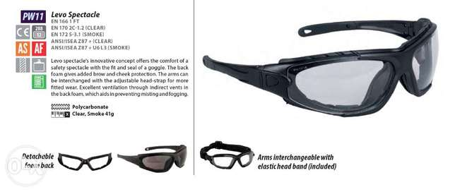 Safety Googles - Levo Spectacle